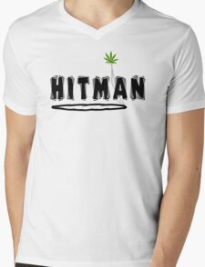 "Marijuana ""Hitman"" Mens V-Neck T-Shirt"