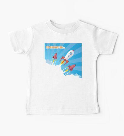aunching of retro spaceship Baby Tee