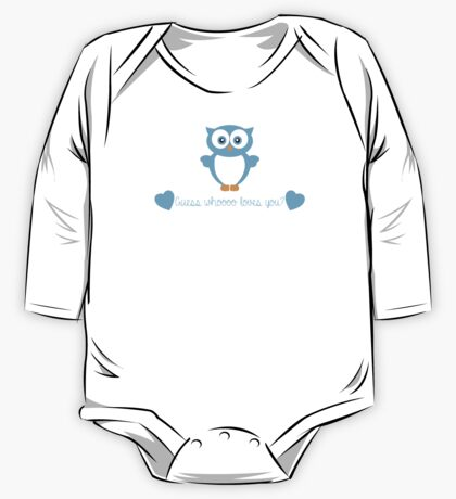 Guess Whoooo Loves You? (Blue) One Piece - Long Sleeve