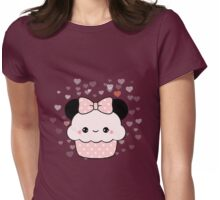 Minnie Cupcake Womens Fitted T-Shirt