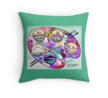 Sicily on a palette. Throw Pillow