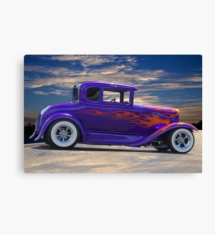 1930 Ford Model A 'Hot Stuff' Coupe Canvas Print
