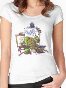 Ninja Rockwell Women's Fitted Scoop T-Shirt
