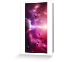 Asteroid Storm Greeting Card