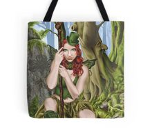 Irish Green Fairy Leprechaun Tote Bag