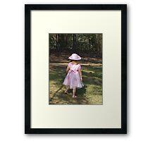 Autumn's Easter Dress, Gaston, South Carolina Framed Print