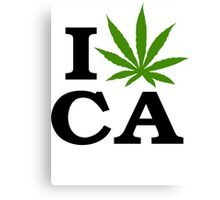 I Marijuana California Canvas Print
