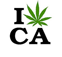 I Marijuana California Photographic Print