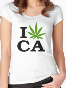I Love Marijuana California Cannabis Women's Fitted Scoop T-Shirt