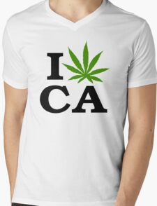 I Marijuana California Mens V-Neck T-Shirt