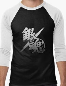 Gintama white logo Men's Baseball ¾ T-Shirt