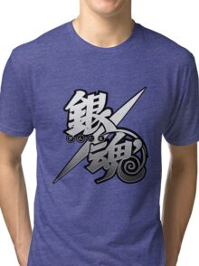 Gintama white logo Tri-blend T-Shirt