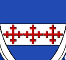 Coat of arms (family crest) for last-name or surname Newsome or Newsam (England) . Heraldry banner for your name. Sticker
