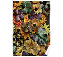 Flowers and Butterflies # 6920 det Poster