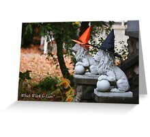 Which Witch Is Lion? Greeting Card