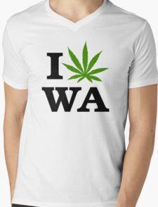 I Marijuana Washington Mens V-Neck T-Shirt