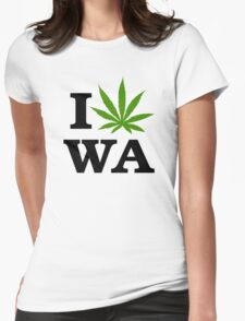 I Marijuana Washington Womens Fitted T-Shirt