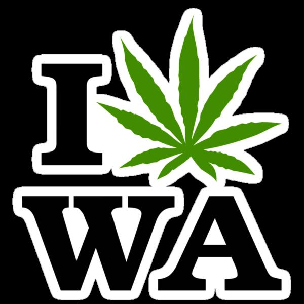 I Marijuana Washington by MarijuanaTshirt