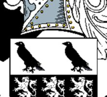 Coat of arms (family crest) for last-name or surname Nicholas . Heraldry banner for your name. Sticker