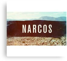 Narcos colored Canvas Print