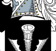 Coat of arms (family crest) for last-name or surname Nicholl . Heraldry banner for your name. Sticker