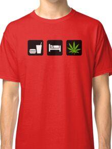 Eat Sleep Smoke Marijuana Classic T-Shirt