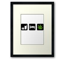 Eat Sleep Smoke Marijuana Framed Print