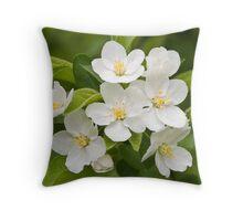 Crabapple Blossoms Throw Pillow