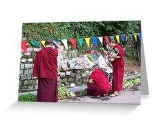 Nuns Buying Vegetables Greeting Card