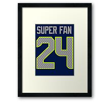 SEAHAWKS - SUPER FAN 24 Framed Print