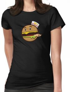 Burger Animal  Womens Fitted T-Shirt