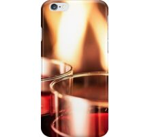 Wine glass fire iPhone Case/Skin