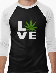 I Love Marijuana Men's Baseball ¾ T-Shirt