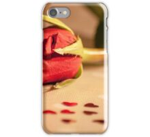 Rose table iPhone Case/Skin