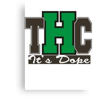 THC Marijuana Canvas Print