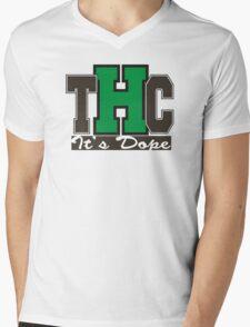 THC Marijuana Mens V-Neck T-Shirt