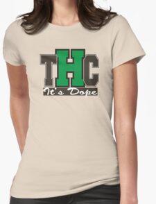 THC Marijuana Womens Fitted T-Shirt