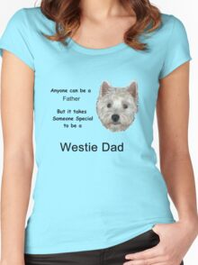 Westie dad 2 Women's Fitted Scoop T-Shirt