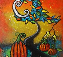 Autumn Celebration III, Panel 2 by Juli Cady Ryan