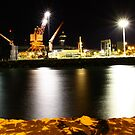 Townsville wharf at night by John Vandeven