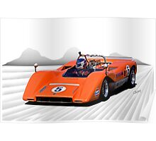 1969 McLaren MC8 Can Am Racecar Poster