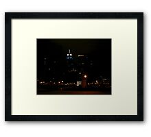 Blue for Christmas Framed Print