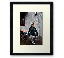 Mao leg cross Framed Print