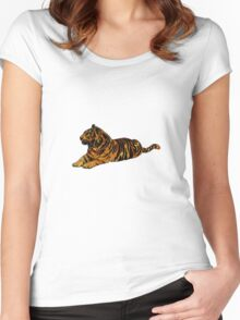 Mystical Tiger Women's Fitted Scoop T-Shirt