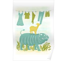 Humphrey the Hippo and the Cameroon Mountain Goat Poster