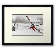 The Warmth of the Christmas Spirit, Without a Cloak Framed Print