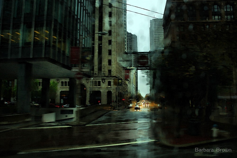 San Francisco Rain by Barbara  Brown