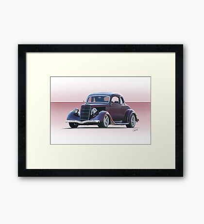 1935 Ford 5 Window Coupe Framed Print