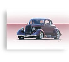 1935 Ford 5 Window Coupe Metal Print