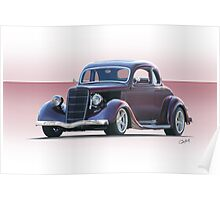 1935 Ford 5 Window Coupe Poster
